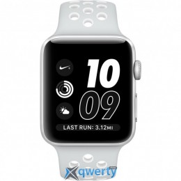 Apple Watch Nike+ MQ192 42mm Silver Aluminum Case with Pure Platinum/White Nike Sport Band