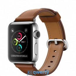 Apple Watch Series 2 MNP72 38mm Stainless Steel Case with Saddle Brown Classic Buckle