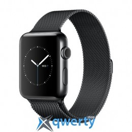 Apple Watch Series 2 MNPE2 38mm Space Black Stainless Steel Case with Space Black Milanese Loop