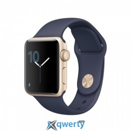Apple Watch Series 2 MQ132 38mm Gold Aluminum Case with Midnight Blue Sport Band