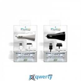 Puro USB 2х (CH2USBAPPLEBLK) +Apple cable (унив)