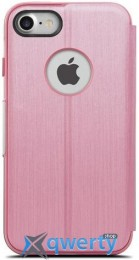 Moshi Sensecover Touch Sensitive Flip Case Rose Pink for iPhone 7 (99MO072307)