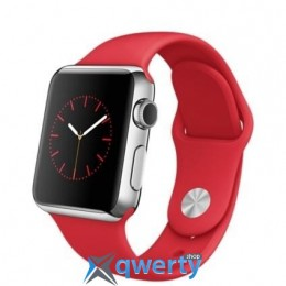 Apple Watch MLLD2 38mm Stainless Steel Case with Product REDSport Band