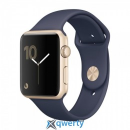 Apple Watch Series 1 MQ122 42mm Gold Aluminum Case with Midnight Blue Sport Band
