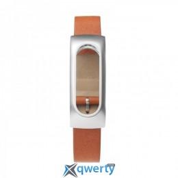 Ремешок для браслета Xiaomi Mi Band Leather Brown (Лицензия)