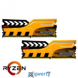 GEIL EVO Forza AMD Edition Racing Yellow DDR4 2400MHz 8GB Kit 2x4GB PC4-17000 (GAFY48GB2400C16DC)