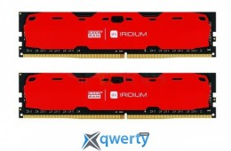 Goodram DDR4-2400 16384MB PC4-19200 (Kit of 2x8192) IRDM Red (IR-R2400D464L15S/16GDC)