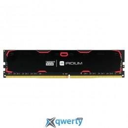 Goodram DDR4-2400 8192MB PC4-19200 IRDM Black (IR-2400D464L15S/8G)