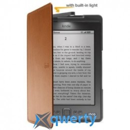 Amazon Kindle 4/5 Lighted Leather Cover Tan