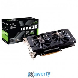 Inno3D PCI-Ex GeForce GTX 1060 Twin X2 6GB GDDR5 (192bit) (1506/8000) (2 x DVI, HDMI, DisplayPort) (N106F-5SDN-N5GS) купить в Одессе