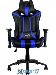AEROCOOL AC120BB (ACGC-2002101.B1) (чёрное/синие вставки) + 2 подушки (шея/поясница)
