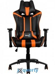 AEROCOOL AC120BO (ACGC-2002101.E1) (чёрное/оранж. вставки) + 2 подушки (шея/поясница)