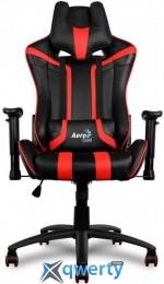 AEROCOOL AC120BR (ACGC-2002101.R1) (чёрное/красные вставки) + 2 подушки (шея/поясница)
