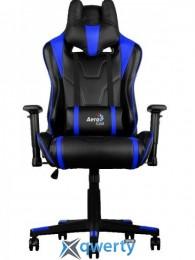 AEROCOOL AC220BB (ACGC-2003101.B1) (чёрное/синие вставки) + 2 подушки (шея/поясница)