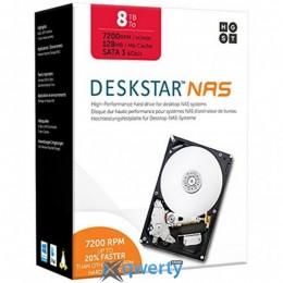 Hitachi (HGST) Deskstar NAS 8TB 7200rpm 128MB (0S04012 / KNAS800012872SWW) 3.5