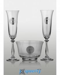 Angela набор для шампанского (Edem платина) 2+1