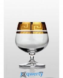 Christine набор бокалов для коньяка (Kostka золото) 6 шт.