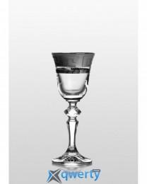 Christine набор рюмок для водки и ликера (Kostka платина) 6 шт