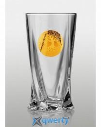 Quadro набор стаканов для напитков (Edem золото) 340 мл 6 шт.