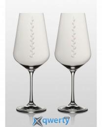 Sandra набор бокалов для вина (550 Nika Swarovski) 2 шт.