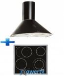 Bosch PKN645F17E + Вытяжка ELEYUS Viola 750 60 BL