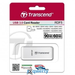 Transcend USB 3.0 , белый