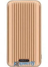 MOMAX iPower GO Slim Battery 10000 mAh Gold (IP56L)