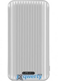 MOMAX iPower GO Slim Battery 10000 mAh Silver (IP56S)
