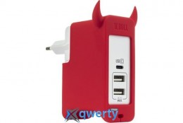MOMAX U.Bull 1 Type C + 2 USB Charger EU Red (UM3SEUR)