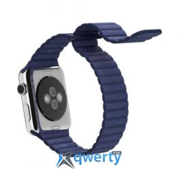 Ремешок Apple Watch 38mm Leather Loop Dark Blue