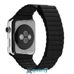 Ремешок Apple Watch 42mm Leather Loop Black
