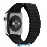 Ремешок Apple Watch 42mm Leather Loop Black