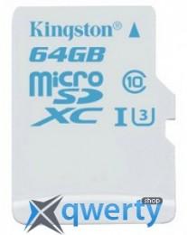 Карта памяти Kingston 64GB microSDXC C10 UHS-I U3 R90/W45MB/s SDCA3/64GBSP