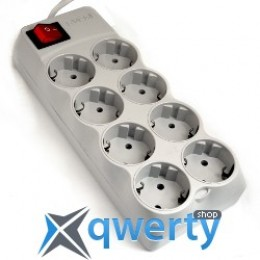 Сетевой-фильтрSVEN Optima Pro 1.8м grey, 8 ? СЕЕ 7/4, 10A