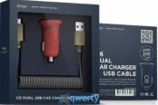 Elago Car Charger C6 - Dual USB Black + cable micro USB