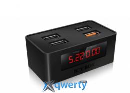 ICY BOX Сетевое зарядное устройство 2xUSB 1A + 2xUSB 2.4A QC 2.0