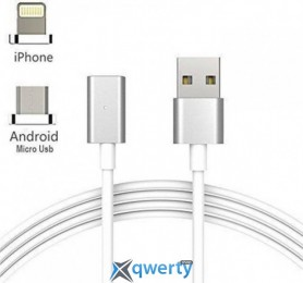 White Knight Data cable magnet 2 in 1