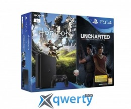 Sony PlayStation 4 1TB Slim +Horizon Zero Dawn+Uncharted: The Lost Legacy