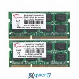G.Skill SODIMM DDR3-1066 4096MB PC3-8500 (2x2GB) (F3-8500CL7D-4GBSQ)