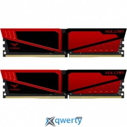 TEAM T-FORCE VULCAN RED DDR4 16GB (2x8GB) 2400MHz PC4-19200 (TLRED416G2400HC14DC01)