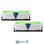 GeIL DDR4-2133 163GB PC4-17000 (2x8GB) Super Luce White-Green LED (GLWG416GB2133C15DC)