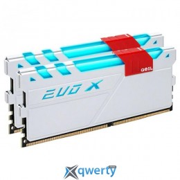 GeIL DDR4-3000 16GB PC4-24000 (2x8GB) Evo X White H LED (GEXG416GB3000C16ADC)