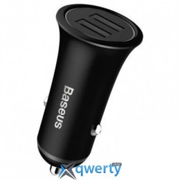 Baseus Trumpet metal power Car Charger Black (CCLB-01)