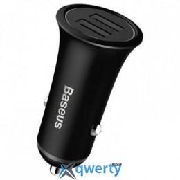 Baseus Trumpet metal power Car Charger Black (CCLB-01)