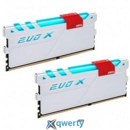 GeIL DDR4-3000 16GB PC4-24000 (2x8GB) Evo X White H LED (GEXG416GB3000C15ADC)