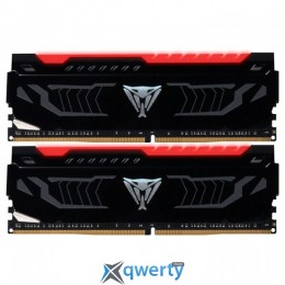 Patriot DDR4-2666 16GB PC4-21300 (2x8) Viper LED Series Red (PVLR416G266C5K)