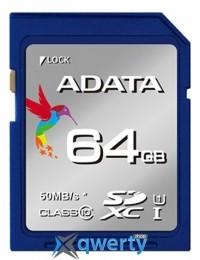 ADATA 64GB SDXC C10 UHS-I R50MB/s (ASDX64GUICL10-R)