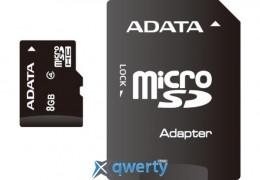 ADATA 8GB microSDHC C4 + SD (AUSDH8GCL4-RA1)