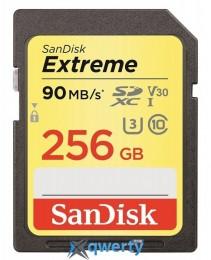 SanDisk 256GB SDXC V30 UHS-I U3 R90/W60MB/s 4K Extreme + SD (SDSDXVF-256G-GNCIN)