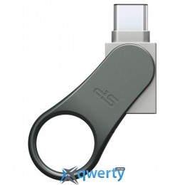 Silicon Power 32GB USB 3.0 Type-C Mobile C80 Silver (SP032GBUC3C80V1S)